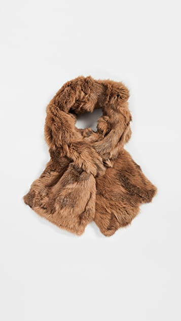 Adrienne Landau Rabbit Cross Scarf