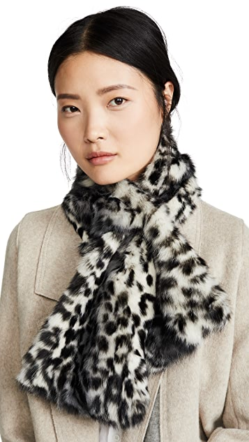 Adrienne Landau Rex Rabbit To Nylon Scarf