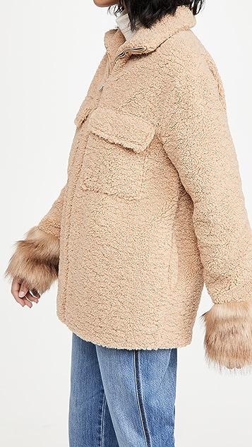 Adrienne Landau Faux Berber Jacket