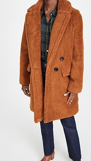 Adrienne Landau Faux Fur Teddy Coat