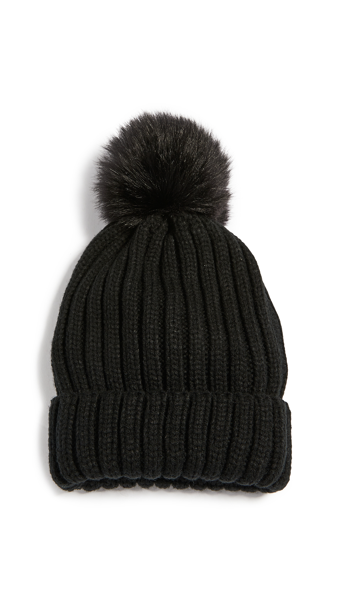 Adrienne Landau Knit Hat with Pom