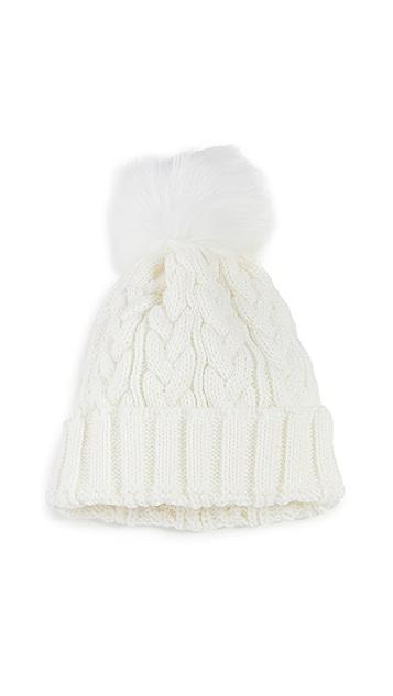 Adrienne Landau 绞纹针织小圆帽