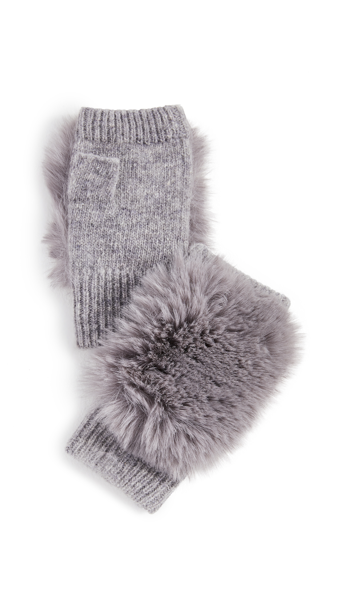 Adrienne Landau Knit Fingerless Gloves