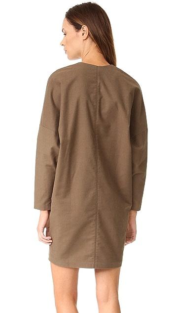 AERON Zip Long Sleeve Dress