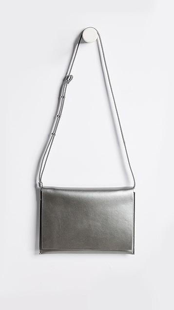 AESTHER EKME Leather Shoulder Bag - Gunmetal