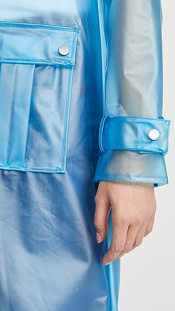 Avec Les Filles Translucent Hooded Rain Coat