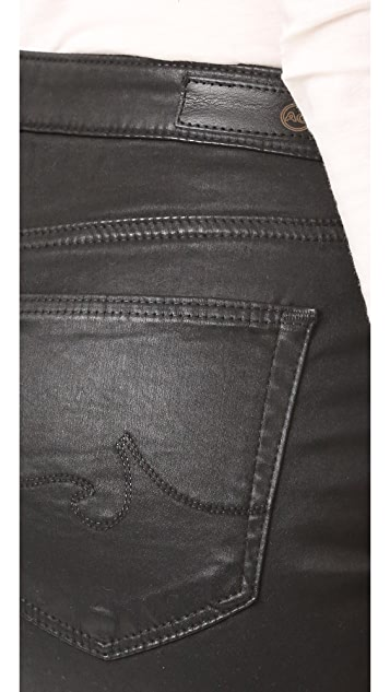 AG The Jodi Crop Leatherette Jeans