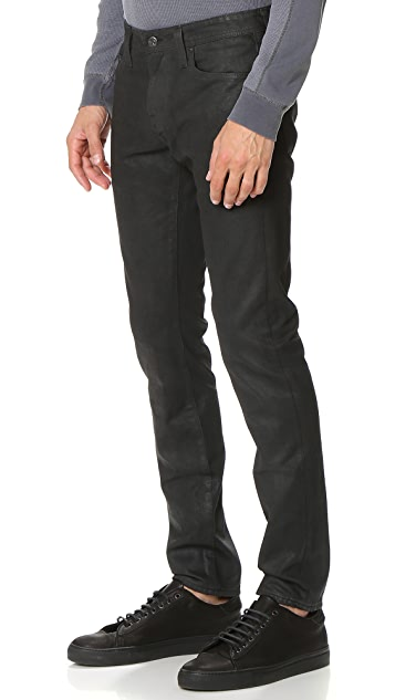 AG Dylan Coated Slim Jeans