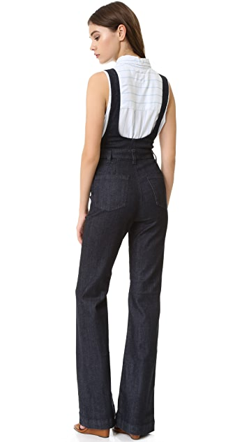 AG The Lolita High-Rise Overall Flare Jean