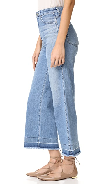 AG The Yvette Wide Leg Ankle Jeans