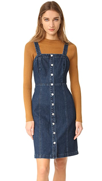AG The Sydney Fitted Button Down Dress