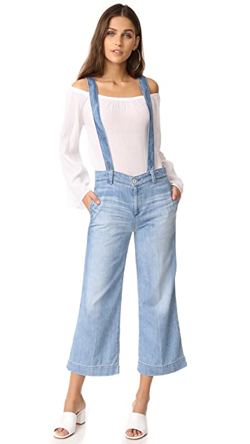AG The James Suspender Wide Leg Crop Overalls