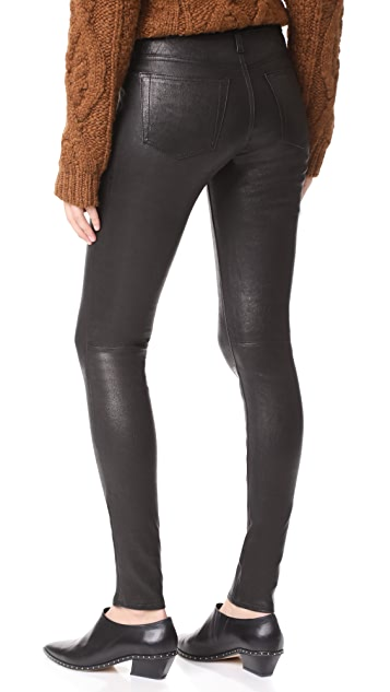 Leather pants aren't just for bikers and rock stars anymore. Do as the off-duty models do, and skip the jeans this season and pair leather pants with a simple top and ankle boots.