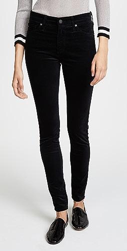 AG - Farrah 紧身丝绒裤