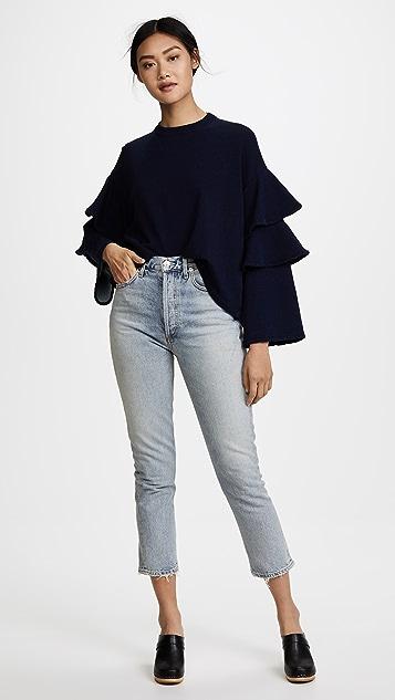 AG Pearl Ruffle Sweatshirt