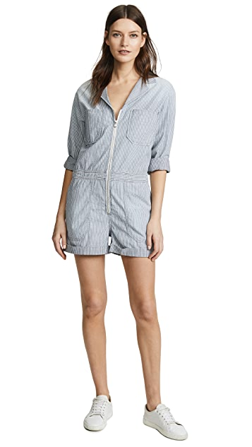 AG Rochelle Chambray Striped Romper