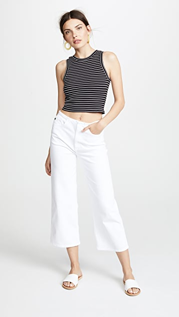 AG The Etta Cropped Jeans with Wide Legs