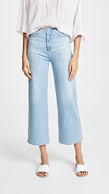 AG The Etta Waistless Wide Leg Cropped Jeans