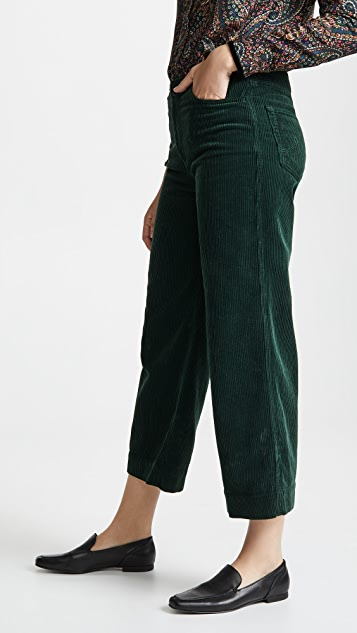 AG The Corduroy Etta Wide Leg Crop Jeans