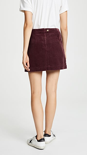 AG The Bernadette Corduroy Skirt