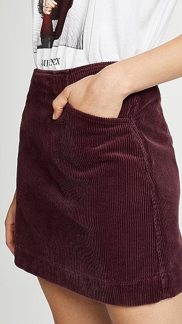 AG The Bernadette Corduroy Skirt