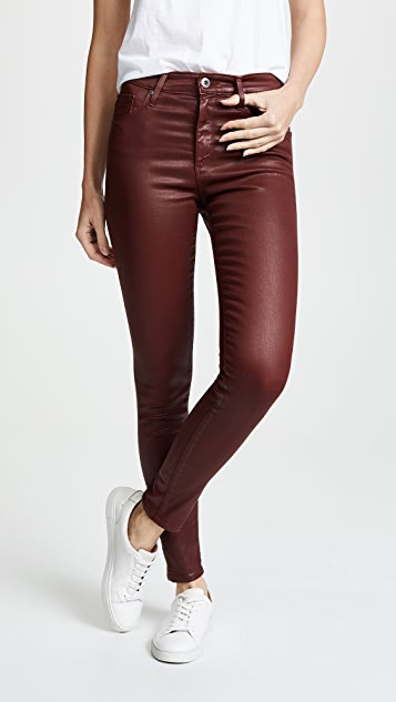AG Farrah Ankle Leatherette Skinny Jeans