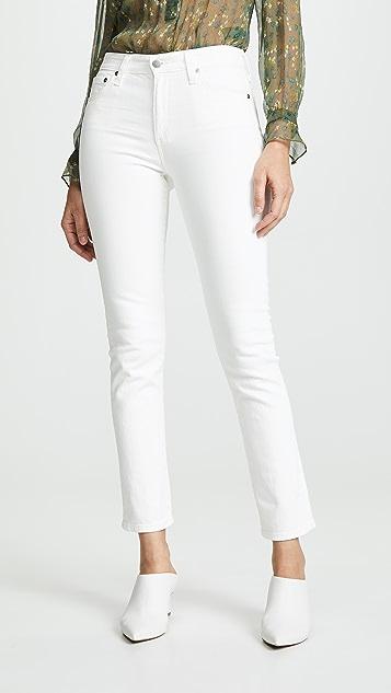 AG Mari Slim Straight Jeans - 1 Year Tonal White