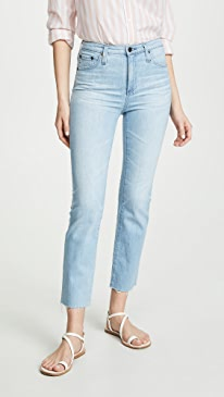 The Isabelle High Rise Straight Crop Jeans