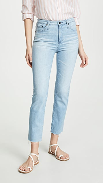AG The Isabelle High Rise Straight Crop Jeans - 26 Years Sanguine