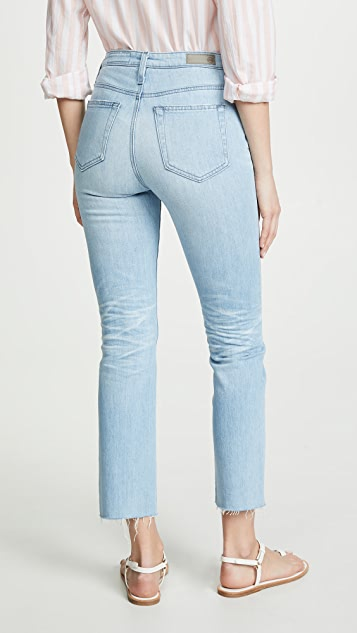 AG The Isabelle High Rise Straight Crop Jeans
