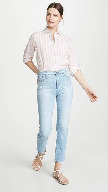 AG Прямые укороченные джинсы Isabelle с высокой посадкой