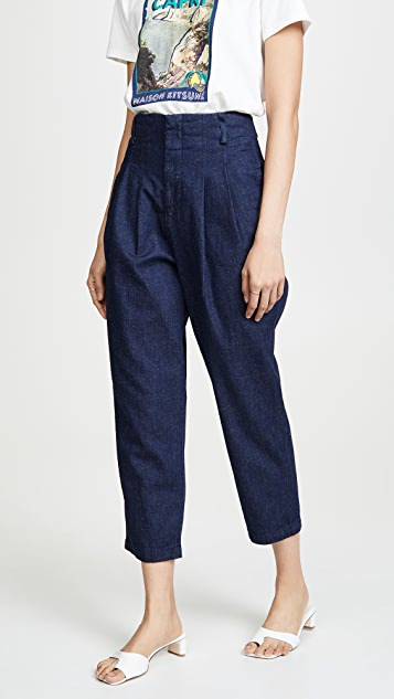 AG Yasmeen Pleated Trousers - Indigo Beyond