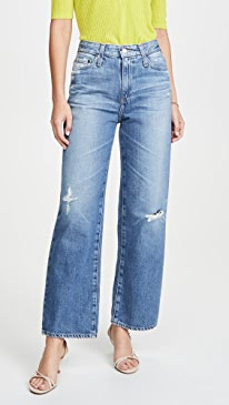 The Tomas High Rise Baggy Straight Jeans