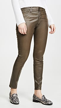 The Farrah Vintage Leatherrette Skinny Ankle Jeans