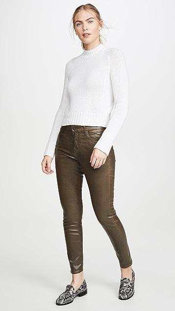 AG The Farrah Vintage Leatherrette Skinny Ankle Jeans