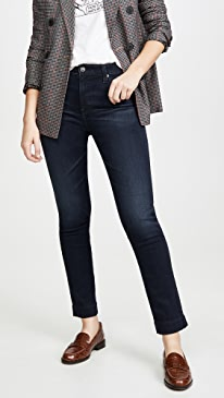 The Mari High-Rise Slim Straight Jeans