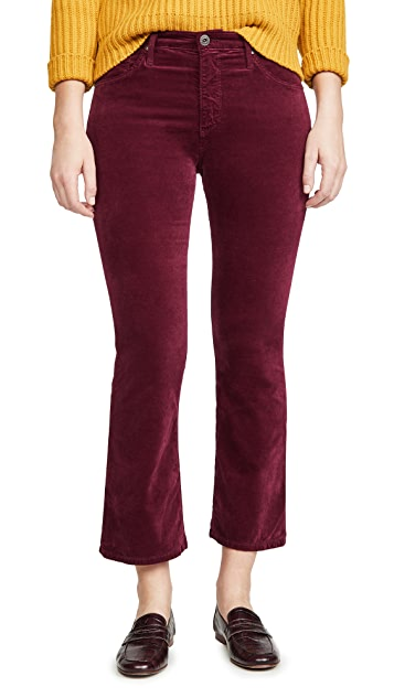 AG The Jodi Velvet Crop Pants