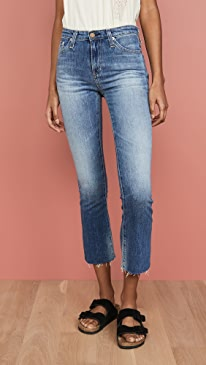 The Jodi Slim Flare Crop Jeans
