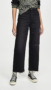 AG The Etta High Waisted Wide Leg Crop Jeans