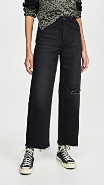 The Etta High Waisted Wide Leg Crop Jeans