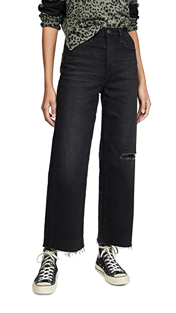 AG The Etta High Waisted Wide Leg Crop Jeans