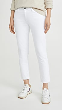 The Prima Crop Raw Hem Jeans