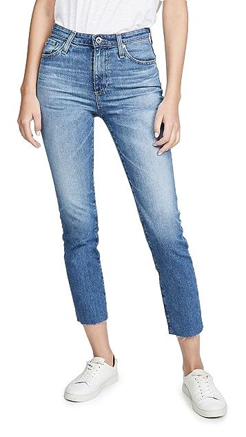 AG Isabelle 高腰直脚九分牛仔裤