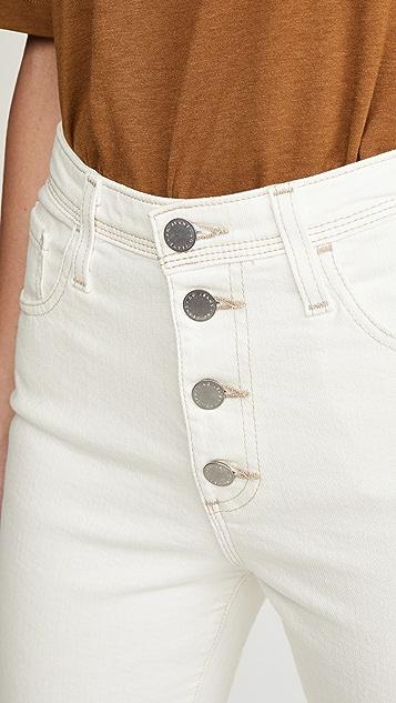AG Isabelle 系扣牛仔裤