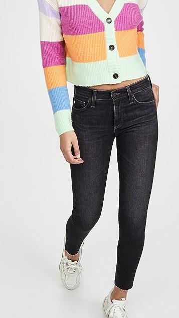 AG Farrah 紧身九分牛仔裤