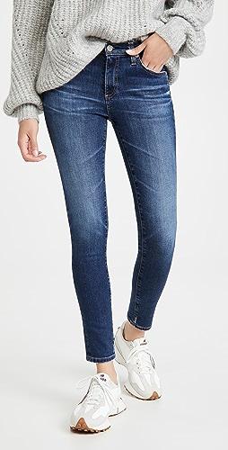 AG - 贴腿裤式九分牛仔裤