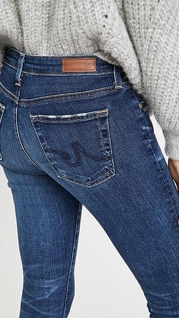 AG 贴腿裤式九分牛仔裤