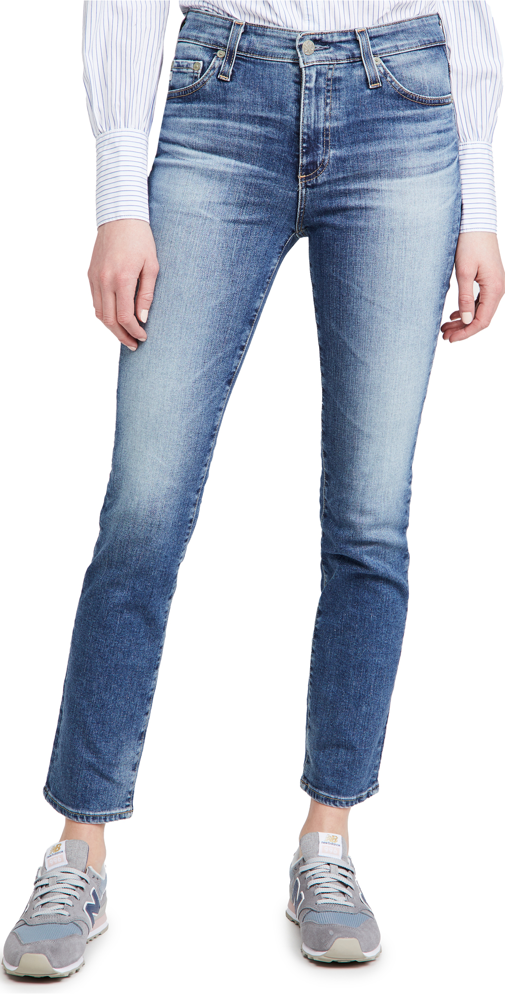 AG Mari High Rise Slim Straight Jeans