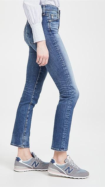 AG Mari 高腰修身直筒牛仔裤