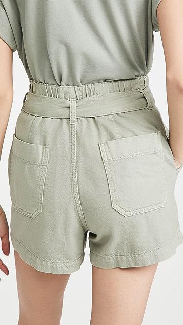 AG Kai 纸袋短裤